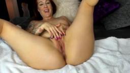 Ginger Morgan Blaze spanking pink pussy lips hard gets cum