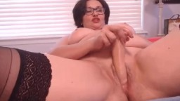 Slutty mom housewife Lidya with glasses and sexy accent