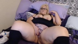 BBW goddess Leah with huge ass pounds her phat vagina