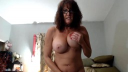 Talkative real granny Nicki Brice with big breasts and glasses