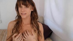Seductive submissive busty girl Danni fingers tight pussy and ass