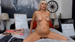 Amazing horny petite country mature pretty rides a sex toy
