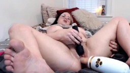 Young creamy angel with fat pussy and fucking machine