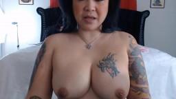 Asian curvy tattooed MILF Sophia gets fucked creamy cunt