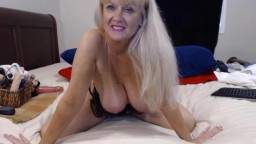 Stunning granny Tammy with oiled big boobs banged ass