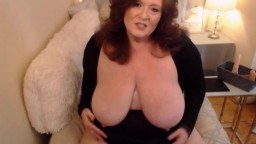 Mature BBW with a shaved pussy fulfilling sexual desires