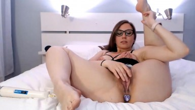 Canadian cutie Violet Fugazzi fucks her sweet trimmed pussy