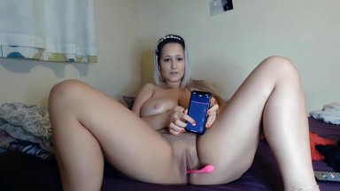Megan offers to control her pussy with a remote vibrator