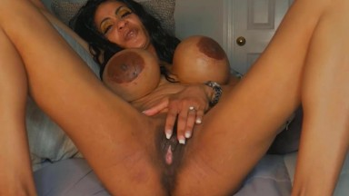 Gloria Lamour loves to shake her fake tits in front of dick
