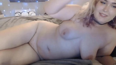 Curvy blonde sex goddess Lucy Blue makes you cum twice