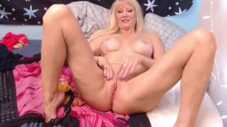 Awesome blond granny Tula ready to play and please you