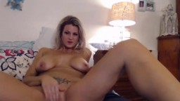 Damn hot blond Southern mom with pierced nipples