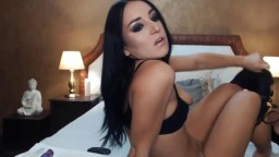 Adorable brunette Julia Crystal with a beautiful body