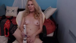 Gorgeous cougar mom B with lacy panties and cumming voice
