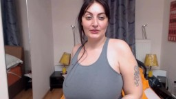 Bored European plumper Anykka with massive melons