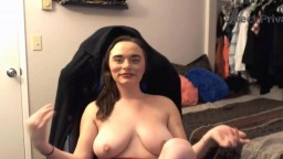 Sexy young busty Evelynn Rose with fuckable face to make u cum